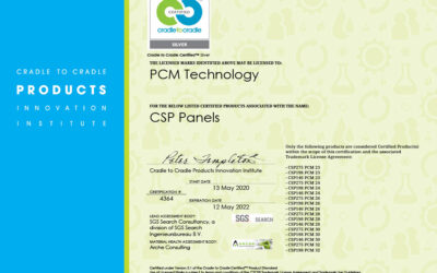 De duurzaamheid en PCM koude- en warmte opslag voor verkoelen en verwarmen